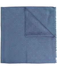 Mulberry ジャカード スカーフ - ブルー