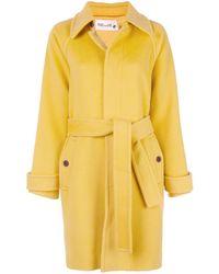 Diane von Furstenberg Lia Belted Coat - Yellow