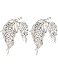 APPLES & FIGS Hermes Crystal-embellished Sterling Silver Earrings - Metallic
