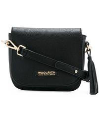 Woolrich Motif Shoulder Bag - Black