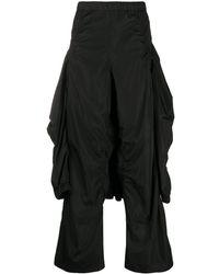 Hyein Seo Wide Leg Hoodie Trousers - Black