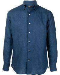 MAN ON THE BOON. リネンシャツ - ブルー