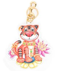 Moschino - Jewelled Tiger Keyring - Lyst