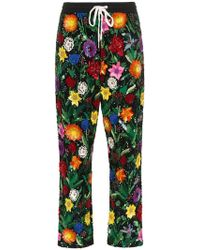 Ashish - Floral Print Sequin Trousers - Lyst