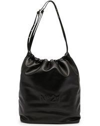 N°21 ロゴ ショルダーバッグ - ブラック