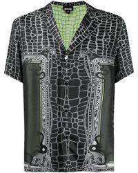 Just Cavalli Рубашка С Короткими Рукавами И Змеиным Принтом - Черный