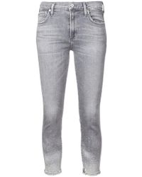 Citizens of Humanity - Cropped-Jeans im Distressed-Look - Lyst