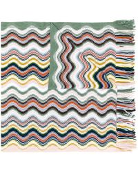 M Missoni カラーブロック スカーフ - グリーン