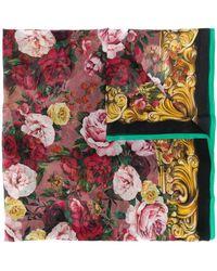 Dolce & Gabbana Sjaal Met Rozenprint