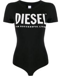 DIESEL ロゴ ボディスーツ - ブラック