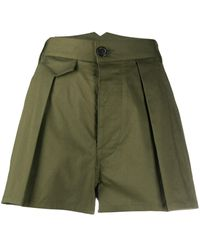 DSquared² High-rise Pleated Shorts - Green