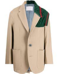 Kolor ウール ジャケット - ブラウン
