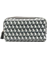 Anya Hindmarch Trousse make up con stampa - Grigio