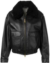 AMI オーバーサイズ ジャケット - ブラック