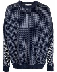 Y. Project Maglione a pois oversize - Blu