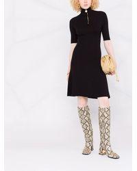 Lanvin ハーフジップ ニットドレス - ブラック