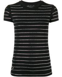 Philipp Plein Strass T-shirt - Черный