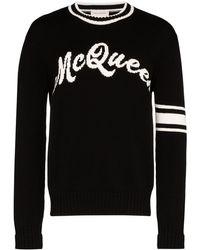 Alexander McQueen - GGインターシャセーター - Lyst