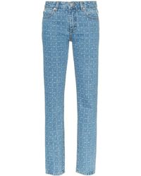 1017 ALYX 9SM Logo Print Straight Leg Jeans - Blue