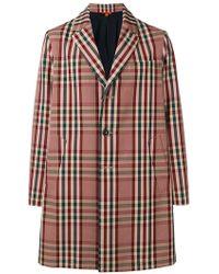 Barena - Classic Overcoat With Tartan Print - Lyst