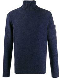 C P Company Pullover mit Rollkragen - Blau