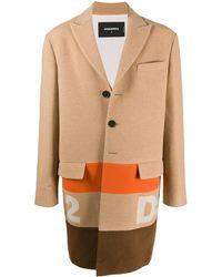 DSquared² Пальто В Стиле Колор-блок С Логотипом - Многоцветный