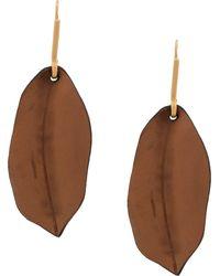 Marni - Leaf Motif Earrings - Lyst