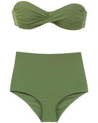 Amir Slama Plain Bikini Set - Groen