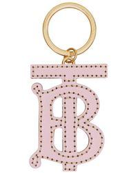 Burberry Charm con monograma - Rosa