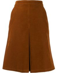 A.P.C. Coco A-line Skirt - Brown