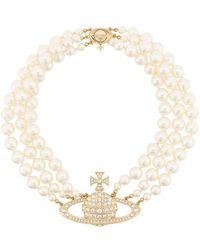 Vivienne Westwood Bass Relief Choker Necklace - White