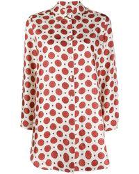Alberto Biani パターン シルクシャツ - マルチカラー