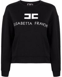Elisabetta Franchi Sweat à logo imprimé - Noir