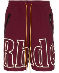 Rhude Oversized Logo Short - Red
