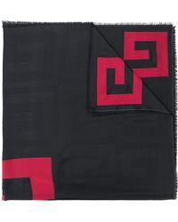 Givenchy Long Logo Scarf - Black