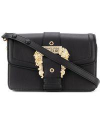 Versace Jeans Schultertasche mit Schnallendetail - Schwarz