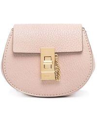 Chloé Mini sac à bandoulière Drew - Rose