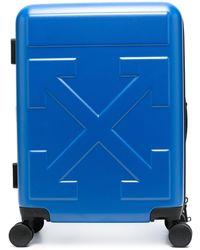 Off-White c/o Virgil Abloh Arrow Motif Cabin Trolley Case - Blue
