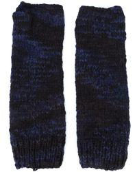 The Elder Statesman Fingerless Gloves - Zwart