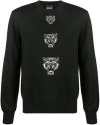 Just Cavalli Tiger Intarsia Sweater - Black