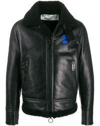 Off-White c/o Virgil Abloh Off Logo Printed Jacket - Black