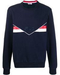 Fila - ロゴ ストライプ スウェットシャツ - Lyst