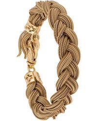 Emanuele Bicocchi Woven Strap Bracelet - Metallic