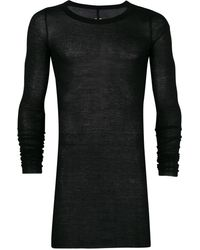 Rick Owens Draped Long Sleeve T-shirt