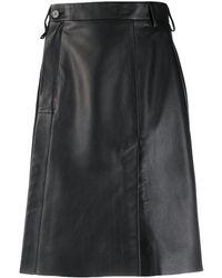 Acne Studios レザーラップスカート - ブラック