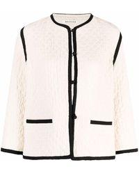 MASSCOB Textured Cropped Jacket - White