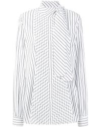 JW Anderson - Pleated Front Blouse - Lyst