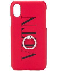 Valentino Garavani Чехол Vltn Rockstud Для Iphone X - Красный