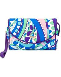 Emilio Pucci Abstract Print Makeup Bag - Blue