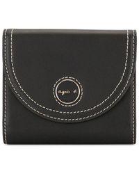 agnès b. Bi-fold Envelope Wallet - Black